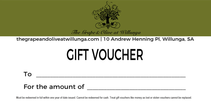 The Grape and Olive Willunga Gift Voucher